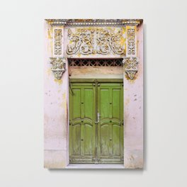 Havana Door - Cuba Travel, Architecture Photography Metal Print