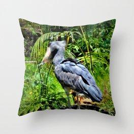The ShoeBill Stork Throw Pillow
