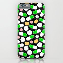 Deadly Pills Pattern iPhone Case