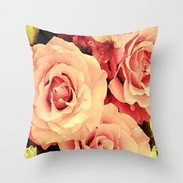 My Rose Garden Throw Pillow