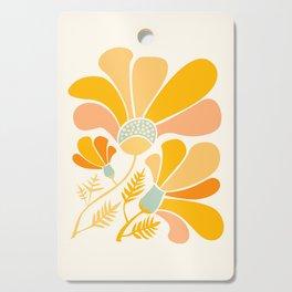 Summer Wildflowers in Golden Yellow Cutting Board
