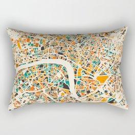 Paris mosaic map #3 Rectangular Pillow
