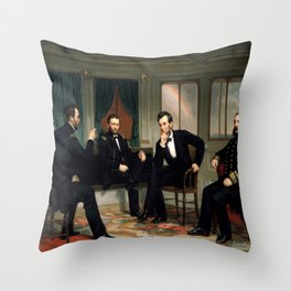 Healy, The peacemakers,1868 Throw Pillow