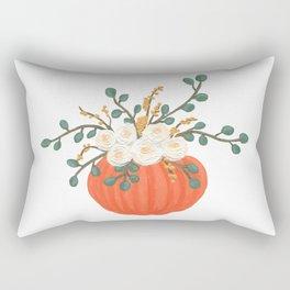 Pumpkin Florals Rectangular Pillow