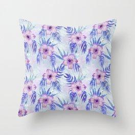 Honolua Light blue Throw Pillow