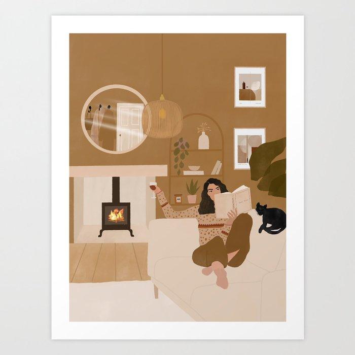 Perfect winter evening  Art Print