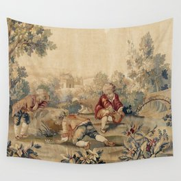 Aubusson  Antique French Tapestry Print Wall Tapestry