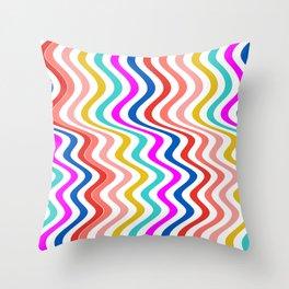 Stripe rainbow Swirl Throw Pillow
