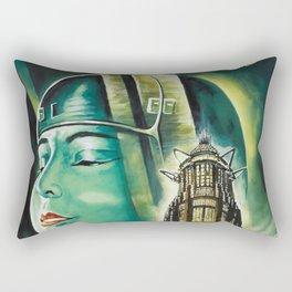 Vintage 1926 'Metropolis' Lobby Card Movie Film Poster by Fritz Lang Rectangular Pillow