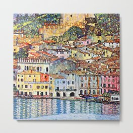 Gustav Klimt Malcesine on Lake Garda Metal Print