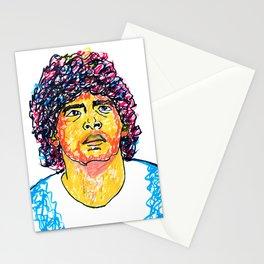 Maradona  Armando Maradona abstract painting || Diego Armando Maradona painting Stationery Cards