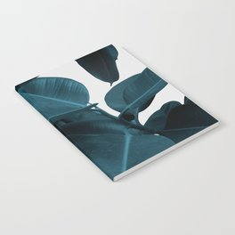 Indigo Blue Plant Leaves Notebook