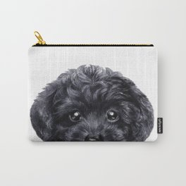 Toy poodle Black Carry-All Pouch