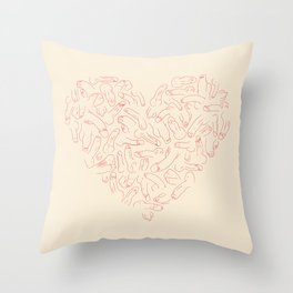 Penis Heart Throw Pillow