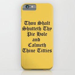 Calmeth Thine Titties Poster iPhone Case