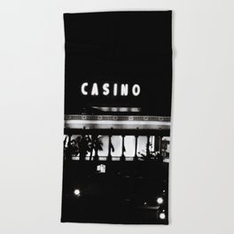 Casino at Night Beach Towel