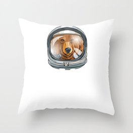 Spaced Out Astronaut Bear Outserspace Science Geek Throw Pillow