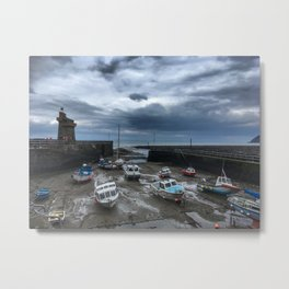 Boats of Lynmouth Metal Print