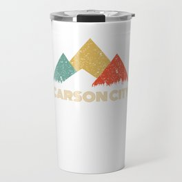 Retro City of Carson City Mountain Shirt Travel Mug