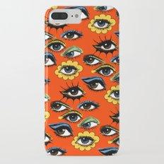 60s Eye Pattern iPhone 8 Plus Slim Case