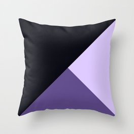 Trinity Color Block Ultra Violet Throw Pillow