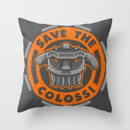 SAVE THE COLOSSUS Throw Pillow