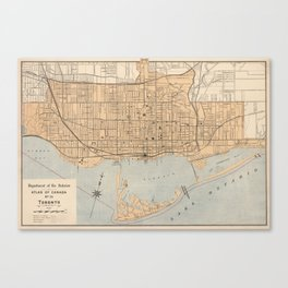 Vintage Map of Toronto (1906) Canvas Print