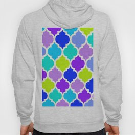 Moroccan BLUE GREEN AND PURPLE Hoody