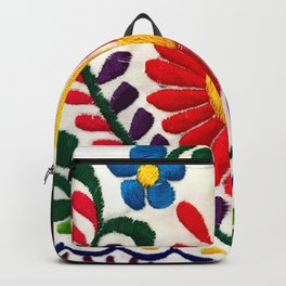 Red Mexican Flower Backpack