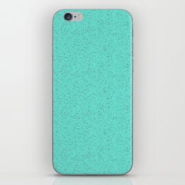 Turquoise rubber flooring iPhone Skin