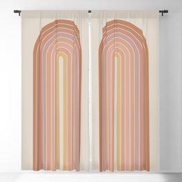 Gradient Arch - Natural Tones Blackout Curtain