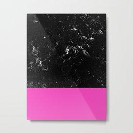 Pink Meets Black Marble #1 #decor #art #society6 Metal Print