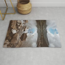 Mountain Lake - Landscape and Nature Photography Rug
