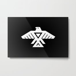 Thunderbird flag - Inverse edition version Metal Print