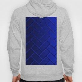Herringbone Gradient Dark Blue Hoody