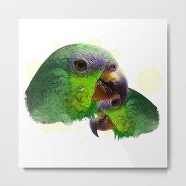 Amazon, parrot, bird friend Metal Print