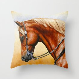 Western Sorrel Quarter Horse Throw Pillow