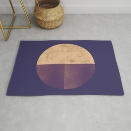 Black and Gold Circle 42 Rug