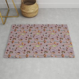 Pretty Mushrooms Rug