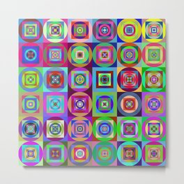 6x6 003 - abstract quilt pattern Metal Print