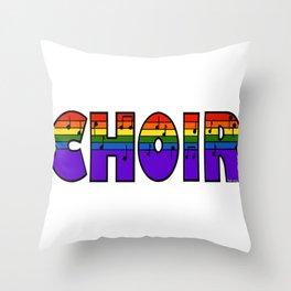 Rainbow Choir Throw Pillow