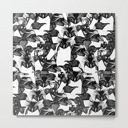 just penguins black white Metal Print