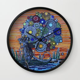 Flowers for Bella Wall Clock