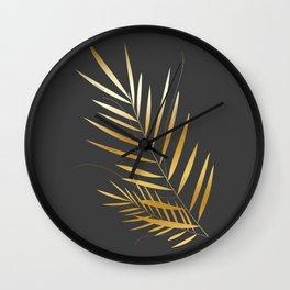 Golden Palm Wall Clock