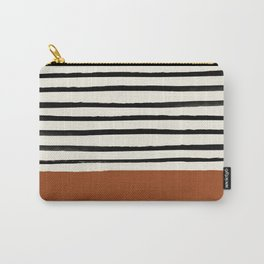 Burnt Orange x Stripes Carry-All Pouch