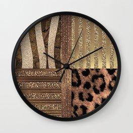 Gold Lioness Safari Chic Wall Clock