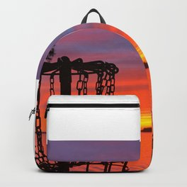 Disc Golf Sunset Water Ocean Gulf of Mexico Backpack