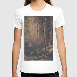 Giant Redwood Trees of California by Albert Bierstadt T-shirt