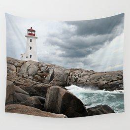 Peggy's Cove Light House -- Nova Scotia Wall Tapestry