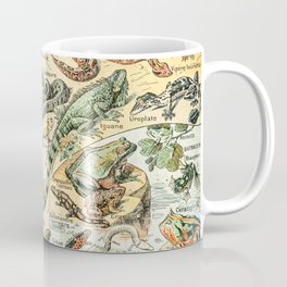 Reptiles II by Adolphe Millot // XL 19th Century Snakes Lizards Alligators Science Textbook Artwork Coffee Mug